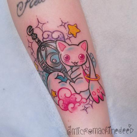 Tattoos - Kyubey Madoka Anime Tattoo - 128622