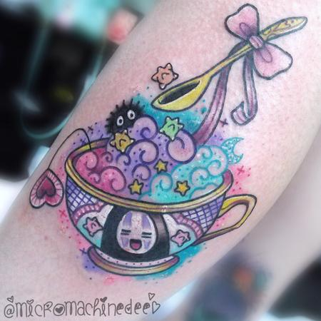 Tattoos - Noface Ghibli tea cup - 128619