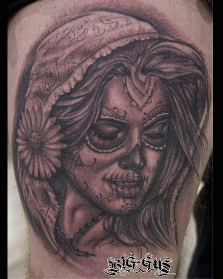 Big Gus - Sugar Skull Girl tattoo