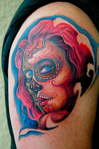 Tattoos - Big Gus - Sugar Skull Girl tattoo