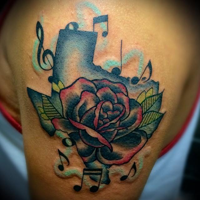 depiction tattoo gallery tattoos flower rose texas tattoo. Black Bedroom Furniture Sets. Home Design Ideas