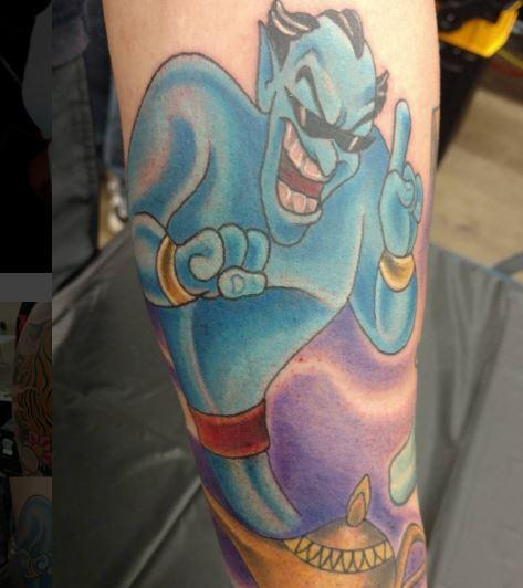 Genie by micah malone tattoonow for Aladin tattoo salon