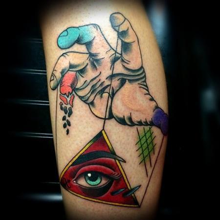 Tattoos - Hand All Seeing Eye Tattoo - 101107