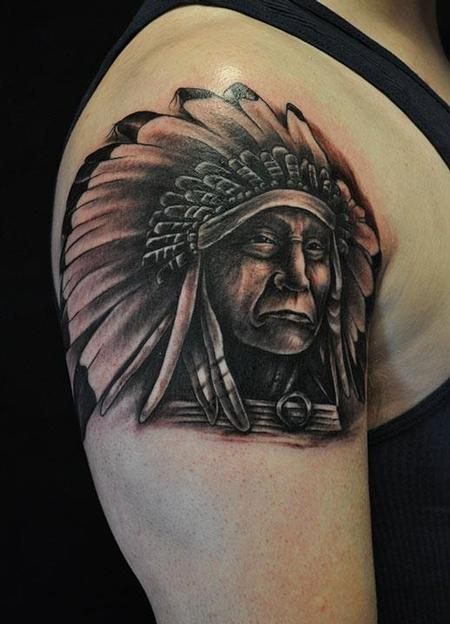 d382531f7 Depiction Tattoo Gallery : Tattoos : Ethnic Native American : Indian ...