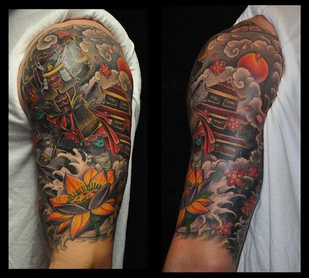 Depiction Tattoo Gallery : Tattoos : Color : Japanese Half Sleeve Tattoo