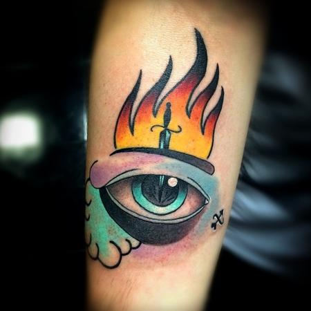 Tattoos - Eye Dagger Tattoo - 101094