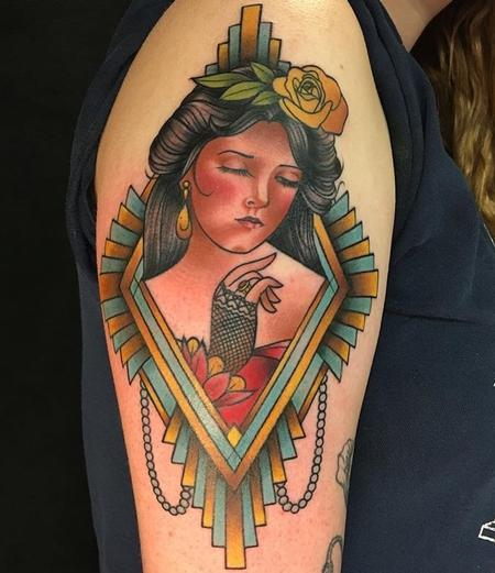 Tattoos - Art Deco Lady - 130333