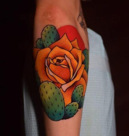 Tattoos - Cactus Rose - 128464