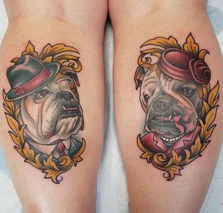 Tattoos - English Bulldog Portraits - 131784