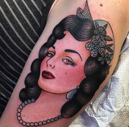 Tattoos - Lady head - 132079