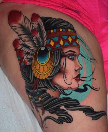 Tattoos - Native girl - 128466