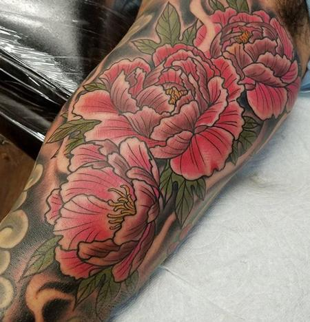 Tattoos - Peonies - 130275