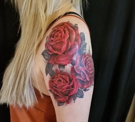 Tattoos - Red Roses - 131462