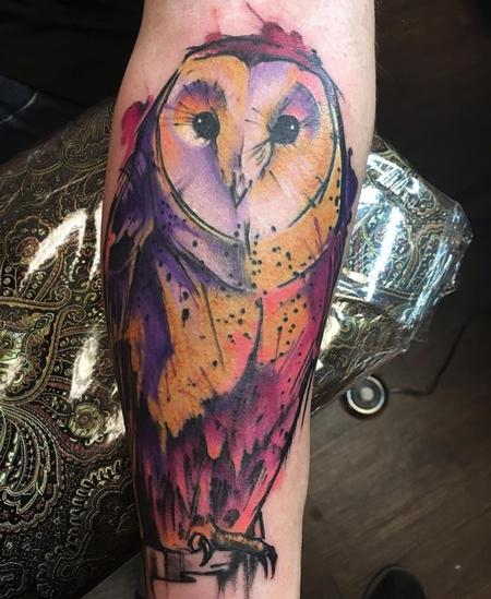 Tattoos - Sketchy Owl - 132610