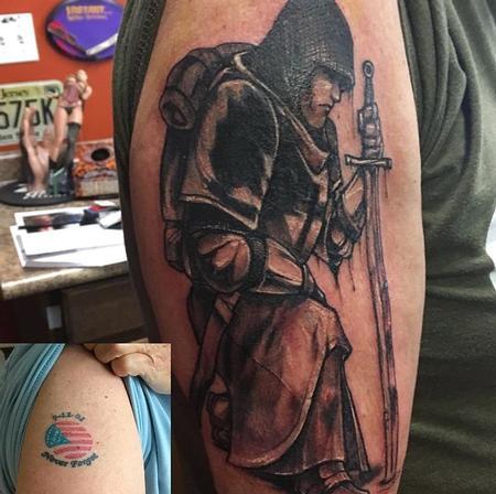 Tattoos - Templar Knight (Cover up) - 133883