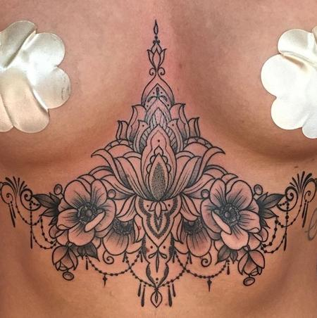 Tattoos - Ornamental/Floral sternum - 133264