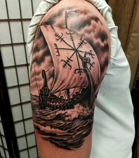 Tattoos - Viking ship - 132088