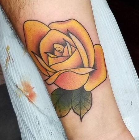 Tattoos - Yellow Rose - 130762