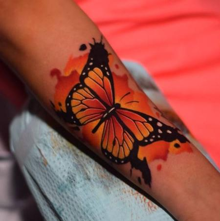 Tattoos - Watercolor Butterfly - 125954