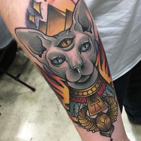 Sphinx Cat  Tattoo Design