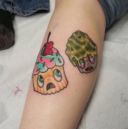 Zombie Cupcake Tattoo Design