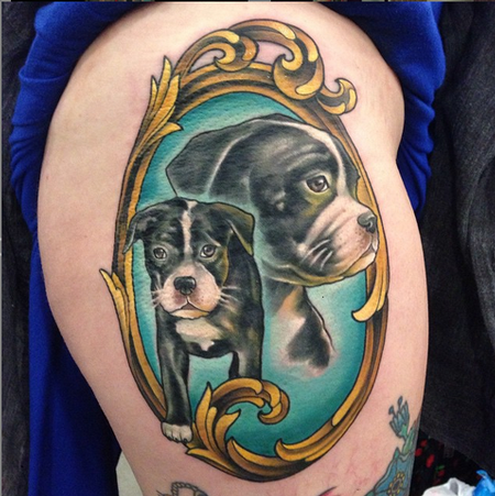 Dog Portrait Tattoos Design Thumbnail