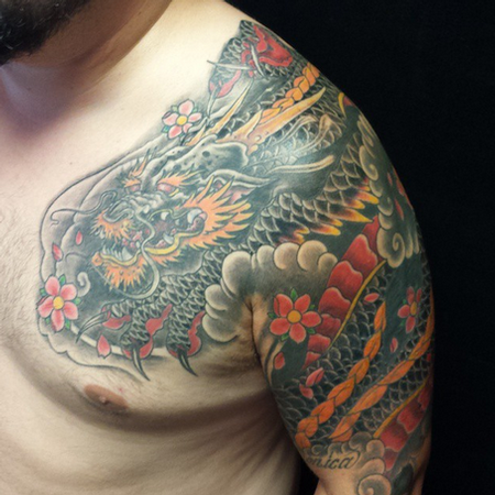 Dragon Cover up Tattoo Designs Tattoos Dragon Cover up