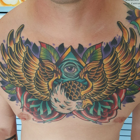 Tattoos - Eagle on Chest - 106752