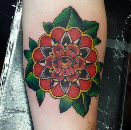 Flower with Eye Tattoo Tattoo Design Thumbnail