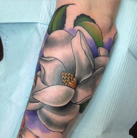 Magnolia Tattoo Tattoo Design Thumbnail