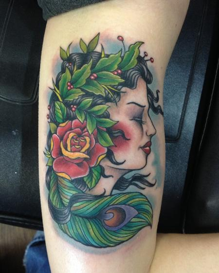 mother nature tattoo by john clark tattoos. Black Bedroom Furniture Sets. Home Design Ideas