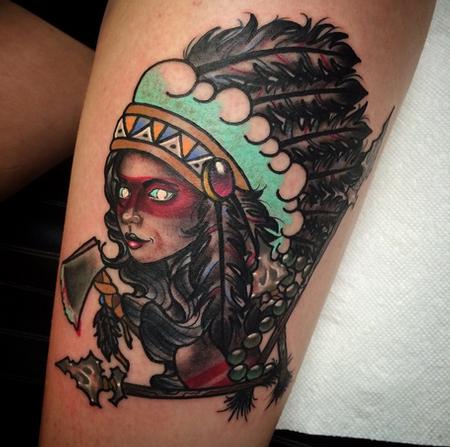Native American Tattoo  Design Thumbnail