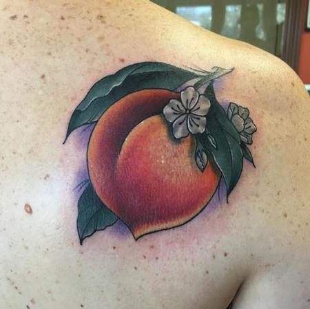 Peach Tattoo Design