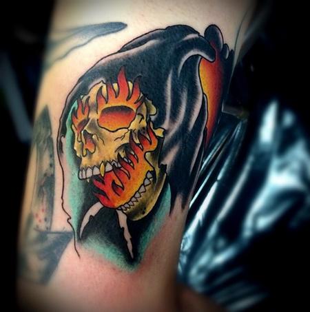 Grim Reaper Tattoo Tattoo Design Thumbnail
