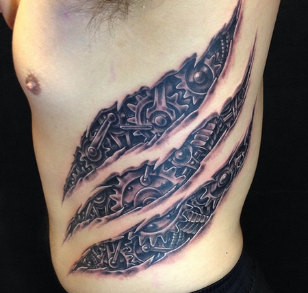 7623d0fc2 Depiction Tattoo Gallery : Tattoos : Realistic : Mechanical Gears ...