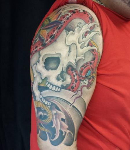 Tattoos - Skull and Snake - 111669