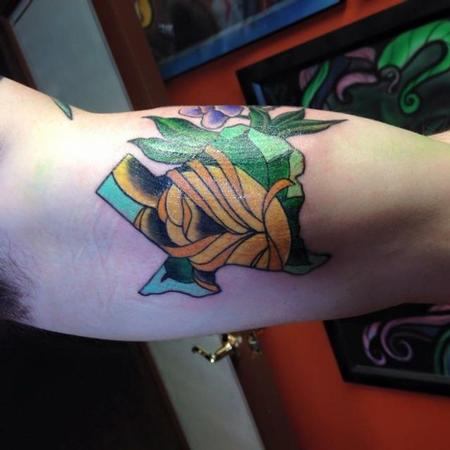 Yellow Rose Texas Tattoo Design