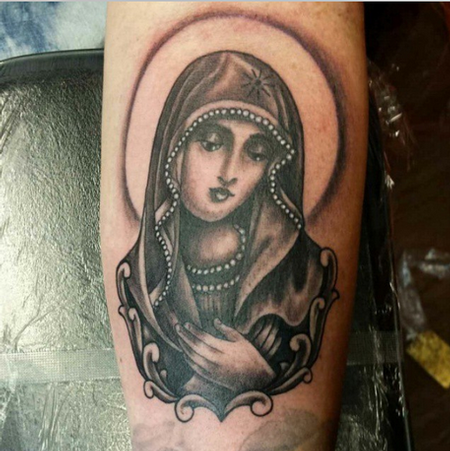 Tattoos - Virgin Mary Tattoo - 100314