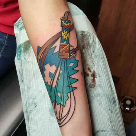 Tattoos - Native American Whisk - 111921