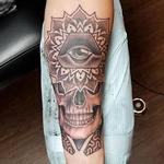 Skull Mandala Tattoo Design Thumbnail
