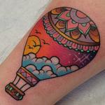 Hot Air Balloon  Tattoo Design Thumbnail