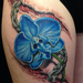 Skin Tear Chain and Orchid Tattoo Tattoo Design Thumbnail