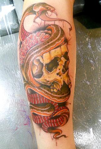 Tattoos - Skull and Snake - 82258