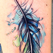 Tattoos - Feather tattoo Done while my Guest spot at Off the Map, MA - 74985