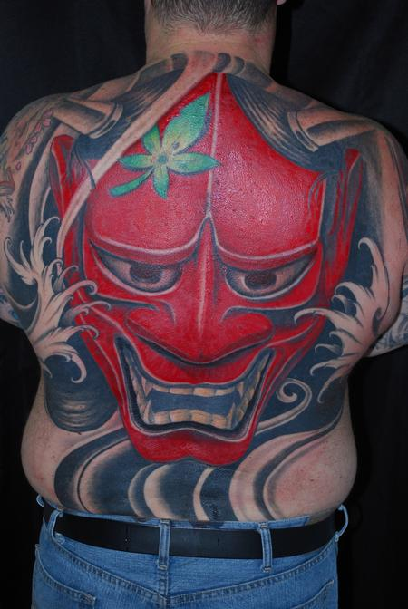 Mr Jones - Hannya Mask Back Piece