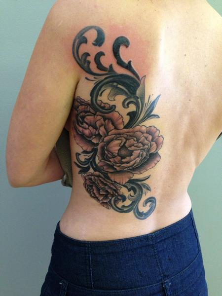 Tattoos - Peony With Filigree - 82288
