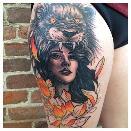 Off The Map Tattoo Nature Animal Lion Tattoos Page 1