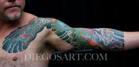 Tattoos - Dragon 3/4 Sleeve tattoo - 84430
