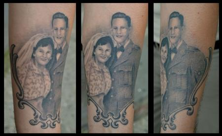 Diego - Grandparents Portrait- Black and Gray