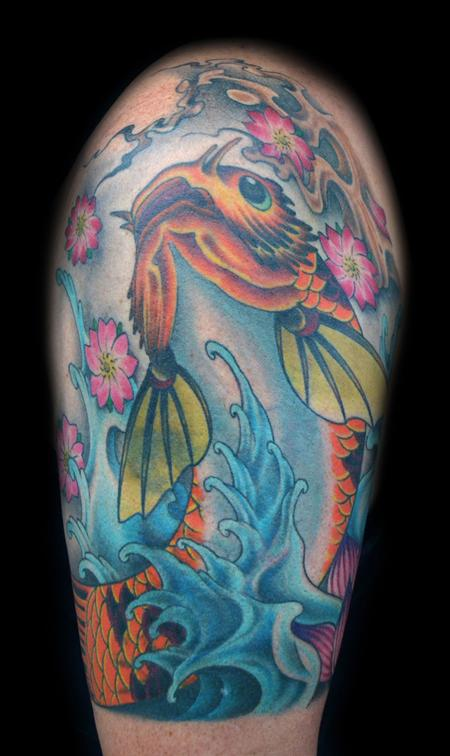 Koi Dragon Freehand  Tattoo Design Thumbnail